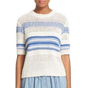 Current/Elliott The Mix Stitch Stripe Sweater